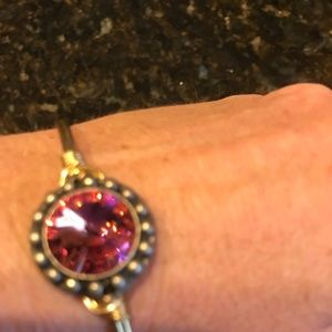 Luca and Danni Gold Pink crystal Bracelet EUC